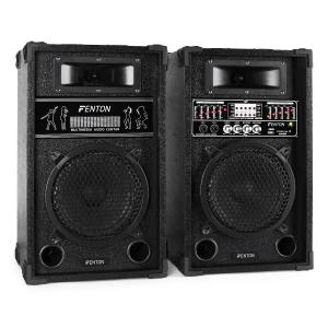 "Skytec 8"" Active DJ PA Speaker Set - 600W USB SD MP3 20 cm (8"")"