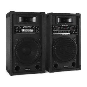 "Skytec PA Speaker System Active & Passive 800W USB SD MP3 25 cm (10"")"