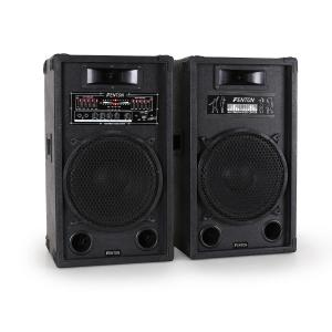 "Skytec 12"" Active DJ PA Speaker Pair 1200W USB-SD-MP3 30 cm (12"")"