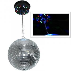 Motorised LED Disco Ball Ceiling mount - 18 LEDs