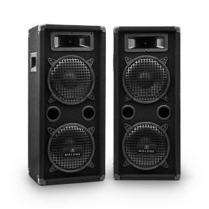 "Auna PW-08X22 3-Way DJ PA Speakers 1600W 2x 20 cm (8"")"