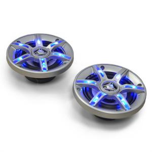 "CS-LED4 4"" Inch Car Speakers 2 x 250 W max. with Blue LEDs 10 cm (4"")"