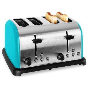 TK-BT-211-T Retro Toaster 4-slices Stainless Steel 1650W - Turquoise Turquoise