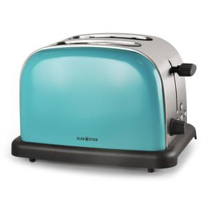 BT-318 toaster broodrooster 2-sneden rvs 1000W retro turquoise Turkoois