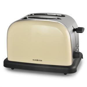 BT-318 Toaster 2 Rostfack Rostfritt stål 1000W Retro cremé Creme