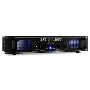 SPL-2000-EQ HiFi PA Amplifier 2U DJ LED Effect Black | Equalizer | 2x 1000 W (4 Ohm) / 2x 750 W (8 Ohm)