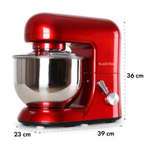 Bella Rossa Kitchen Machine Stand Mixer 1200W 5 Litre Red Red
