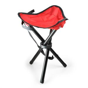 Portable Foldable Camping and Fishing Stool - Red Red