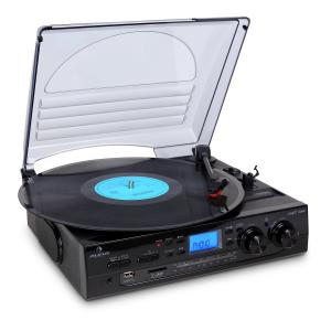 TT-186E Stereo Turntable Record Player LP USB SD MP3 Recording Black