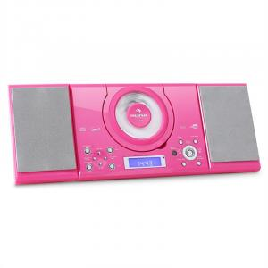 MC-120 Microanlage Vertikalanlage MP3-CD-Player USB AUX Wandmontage pink Pink