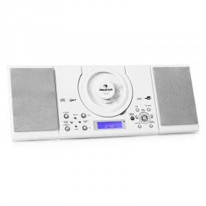 MC-120 Cadena estéreo MP3 CD USB Montaje pared Blanco Blanco
