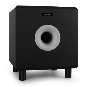 "SHFS08B Home Hifi Active 8"" Subwoofer - Black 20 cm (8"") active subwoofer"