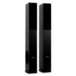 Pair Skytronic SHFT52B Tower Speakers Floor Standing Hifi Home Theatre -500W