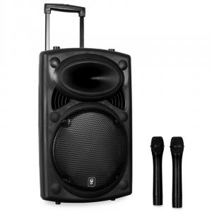 "QR12PA 12"" Active Portable PA Speaker System with VHF Mics"