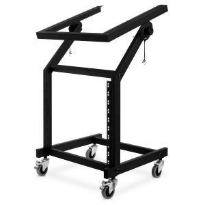 "Portable Rack Stand 19"" 12U Wheels Tilting"