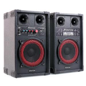 "Skytec SPB-8 Active/Passive 8"" PA Speakers 400W"