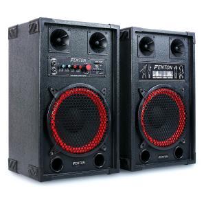 "Fenton SPB-10 Altavoces Woofer activo y pasivo 25cm (10"") 600W USB SD"