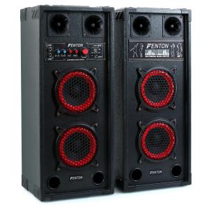 SPB-26 Aktiv Passiv Boxen Set 800W 30cm Woofer USB/SD Bluetooth MP3