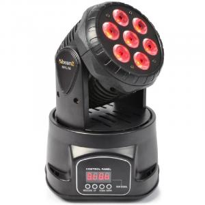 MHL-74 Moving Head Light Mini Wash DMX 12 Channel RGB 7 x 10W