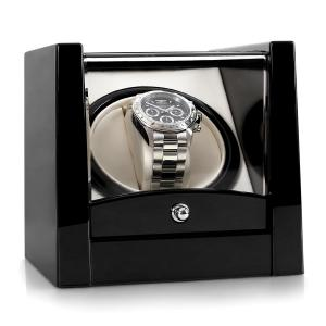 8PT1S watch winder 1 Uhr svart pianolack