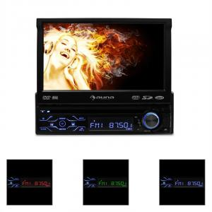 "MVD-180 Bluetooth Car Radio DVD Player Stereo System 7"" LCD"