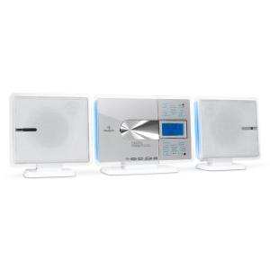 VCP-191 stereo-installatie MP3-CD-Player USB SD wit Wit