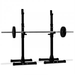 Weight Lift Squat Rack Curl Bar Stand Holder <100kg