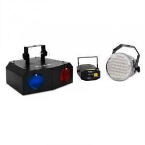 Night'n Light set di luci LED moonflower strobo laser