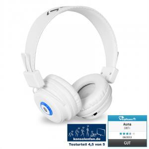 DBT-1 Casque Bluetooth batterie kit mains-libres blanc