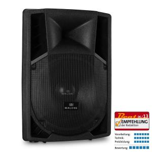 "15"" Active PA Speaker 2 x Microphone Inputs AUX 1500W 38 cm (15"")"