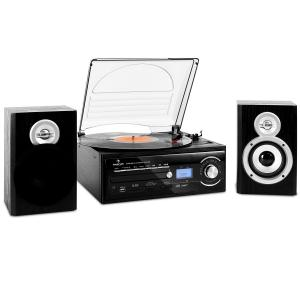 TT-190 stereo set platenspeler MP3-opname CD-speler SD