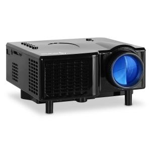 Projector LED Mini-Beamer VGA AV zwart
