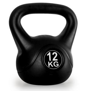 Kettlebell 12kg Training & Fitness Weight - Black 12 kg
