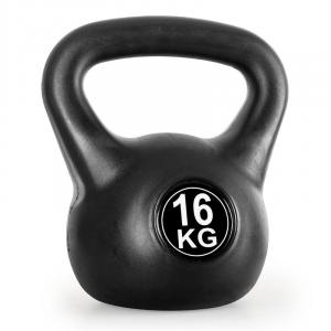 Kettlebell 16kg Training & Fitness Weight - Black 16 kg