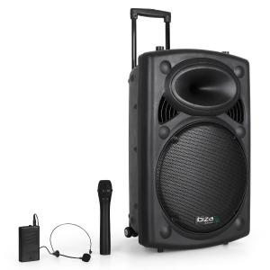 "Port15VHF-BT Portable 15"" PA System USB SD AUX MP3 Bluetooth Black 