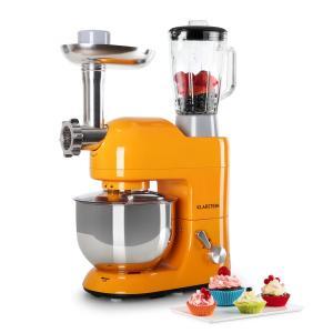 Lucia Orangina Robot de cuisine Pétrin Mixeur Hachoir 1200w 5l Orange