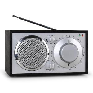 1960s Retro Style FM Kitchen Radio AUX Black