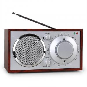 1960s Retro Style FM Kitchen Radio AUX Cherry