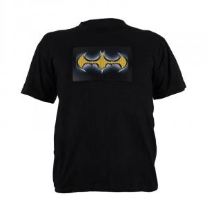 T-Shirt LED 2-kleuren Batman Design maat L