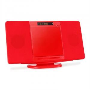 CH04CD Cadena estéreo vertical CD USB SD roja Rojo