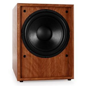 "Line 300-SW-WN Active 10"" Subwoofer - Walnut Wood Walnut"