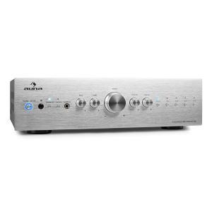 CD708 Stereo-Verstärker AUX Phono Silber 600W Silber