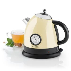 Aquavita Kettle 1.5L 2200w Stainless Steel Cream Creme
