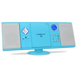V-12 Aparelhagem CD Stereo MP3 USB SD AUX Azul Azul
