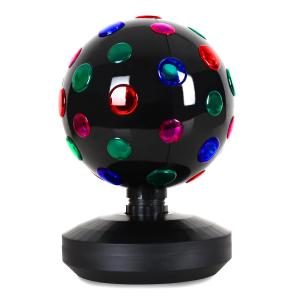 Disco-Ball-8-B effetto luce LED nero 20 cm