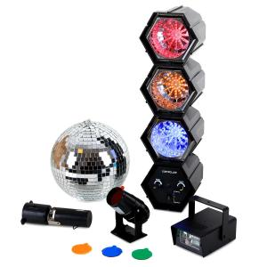 Mega LED Party Set sfera strobo light organ