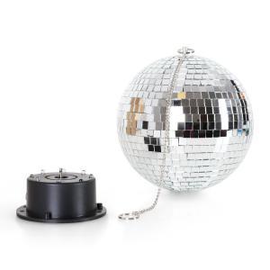 Mirror Ball XL LED-discokula 20cm RGBY