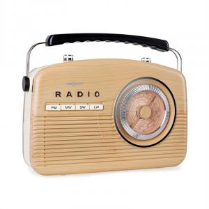 NR-12 Radio retro AM FM marrón claro/beige