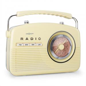 NR-12 Transistorradio FM MV retro femtiotal cream yellow
