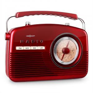 NR-12 Portable Retro 50s Radio FM/MW/SW/LWRed